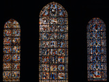 Stained Glass Window  Chartres Cathedral  France