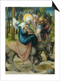 """The Flight to Egypt  from the Altar: """"The Virgin's Seven Agonies""""  1495-96"""