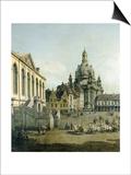 The Neumarkt in Dresden Seen from the Juedenhofe (Detail)  1749