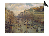Der Boulevard Montmartre in Paris  1893