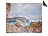 Etretat  Beach and Falaise D'Aval  1884