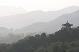 A Chinese Viewing Point Amid Hills Outside Beijing