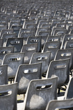 Plastic Chairs at 'An Audience with the Pope' St Peter's Basilica  Vatican City  Rome  Italy