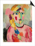Girl with Blue Eyes and a Plait (Maedchen Mit Blauen Augen Und Einem Zopf)  C 1916
