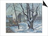 Snow Landscape in Louveciennes (Louveciennes  Chemin De Creux  Louveciennes  Neige)  1872