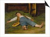Sleeping Boy in the Hay  1891-97