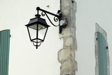 Streetlamp on a Building with Shuttered Windows Il De Re  France