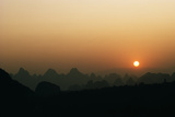 Sunset over the City of Guilin  China  December 1982