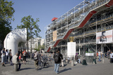 Western Facade of Pompidou Centre  Renzo Piano  Paris  France