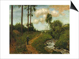Hiker in the Black Forest (Der Wanderer Im Schwarzwald)  1891