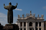 Back of Statue of St Francis of Assisi  1926  Facade of Lateran Basilica  1735  Rome  Italy