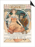 Poster for the World Fair  St  Louis  1903