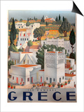 Greece Dandros travel poster