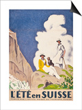 L'Ete En Suisse  Poster by the Swiss Office of Tourism  1921