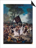 Carnival Scene: the Burial of the Sardine (El Entierro De La Sardina)  C 1812-1819