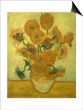 Fourteen Sunflowers in a Vase  1889