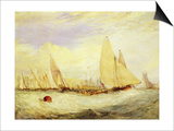 East Cowes Castle  the Seat of J Nash Esq  the Regatta Beating to Windward  1828