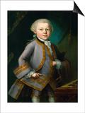 Wolfgang Amadeus Mozart in Royal Suite  1763