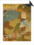 French Poster Advertising the Paris Almanac  Paris  1894