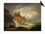 Tantallon Castle with the Bass Rock  C1816