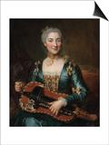 Portrait of a Lady Playing a Hurdy-Gurdy