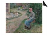 A Servant Seated in the Garden at Eragny; La Servante Assise Dans Le Jardin D'Eragny  1884