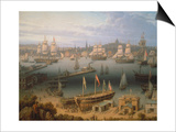 Boston Harbour  1843