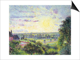 Sunset at Eragny  1891
