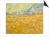 Wheatfield with Reaper (La Moisson)  1889