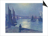 Moonlit Night  Boulogne-Sur-Mer