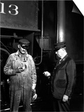 The Engineer and Conductor Checking Time