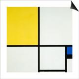 Komposition Mit Blau Und Gelb  1931