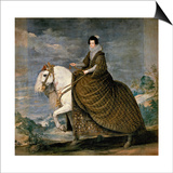 Equestrian Portrait of Elisabeth De France  Wife of Philip IV of Spain  1629-1635