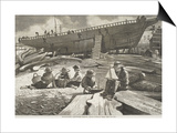 "Ship Building  Gloucester Harbor  Published in ""Harper's Weekly""  October 11  1873"