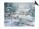 A Fine Winter's Eve Reproduction Magnetic Art par Nicky Boehme