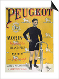 Poster Advertising the Cycles 'Peugeot'  1896