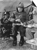 President-Elect Dwight Eisenhower Eating with Soldiers in Korea on Dec 1952