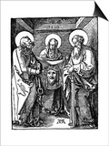 St Veronica with the Sudarium Between St Peter and Paul  1510