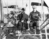 Wilbur and Katharine Wright Preparing for Flight