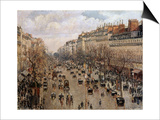 Boulevard Montmartre in Paris  1897