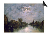 Dutch Channel in the Moonlight  C1840-1891