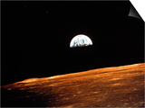 View of Earth from Apollo 10 Orbiting the Moon  1969