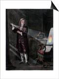 Newton Investigating Light  1870