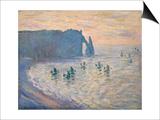 Cliffs at Etretat  1885-1886