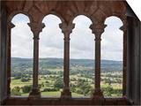 Chateau de Castelnau-Bretenoux  panorama depuis une des baies de la salle de la tour-residence