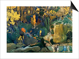Decor for Debussy's Ballet L'Apres-Midi D'Un Faune (The Afternoon of a Fau)  1912
