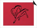 Two Horses (Almanac Vignette); Zwei Pferdchen (Almanach-Vignette)