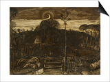 Late Twilight  1825 (Pen and Dark Brown Ink with Brush in Sepia Mixed with Gum Arabic; Varnished)
