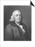 Benjamin Franklin  18th Century American Scientist  Inventor and Statesman  1835