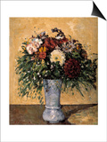 Flowers in a Blue Vase  1873-1875